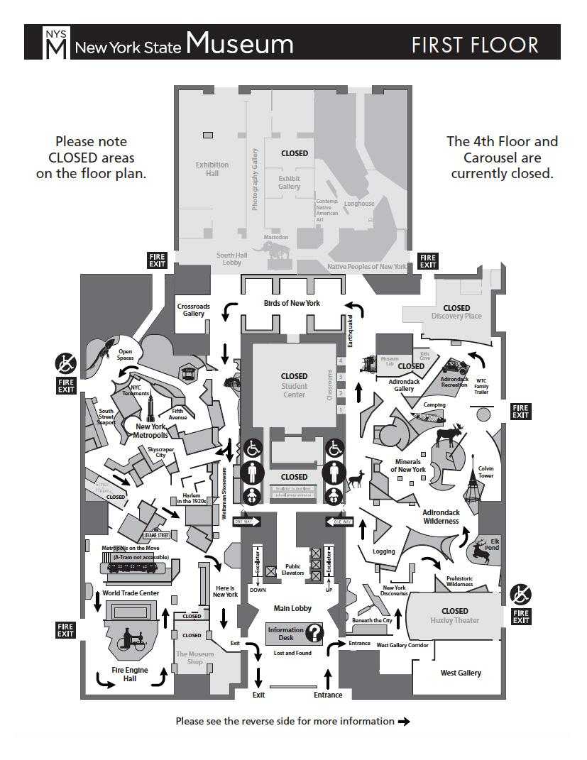 Museums In Nyc Map Floorplan Map | The New York State Museum