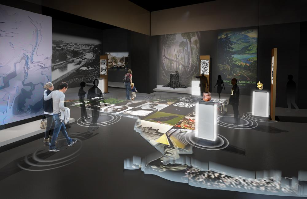 Rendered view of museum renovation proposal