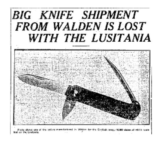 Knives from Walden lost in the Lusitania