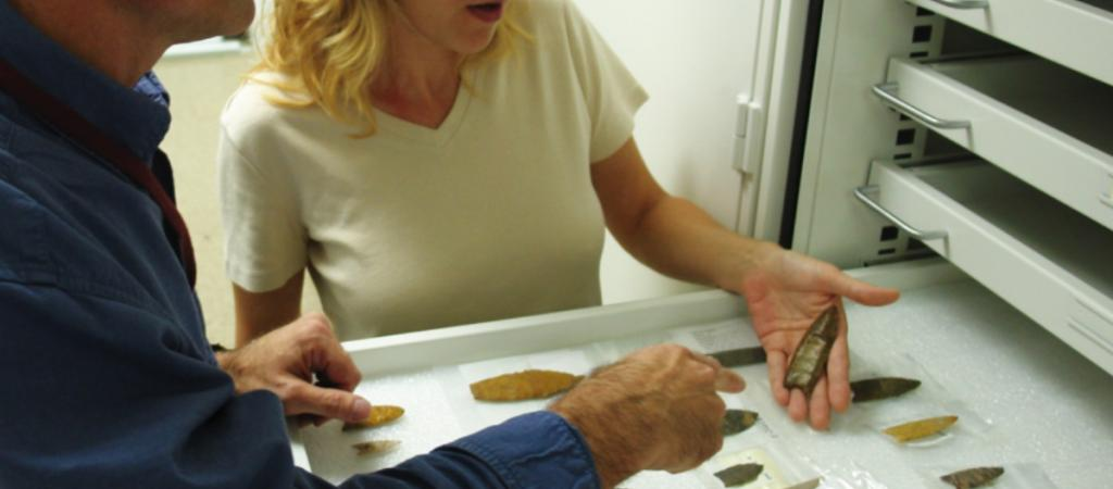 Examining Paleoindian points in the New York State Museum
