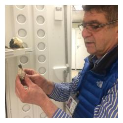 Marian Lupulescu in the mineral collection