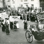 Suffragette Mothers on the March in New York