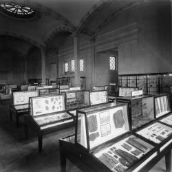 Display cases in the 1950s at the New York State Education Building