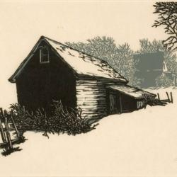 Frank Eckmair artwork of old barn