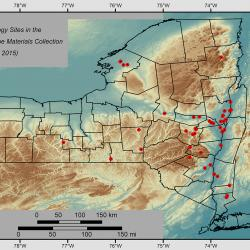 NYS geo arch sites map