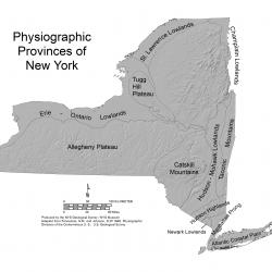 NYS physiographic map