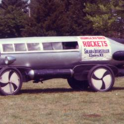 Photo of a rocket car