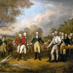 Surrender of General Burgoyne in Saratoga