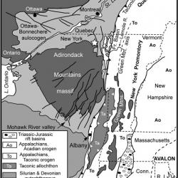 map of NY geologic structures
