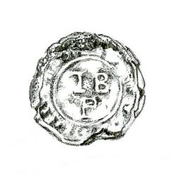 Button found with Courtland Street Burial #12 (drawing by Lexi DeCarlo)