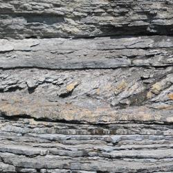 close up layers of rock