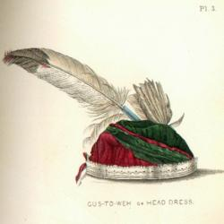 Illustration of Head Dress from Lewis Henry Mogan