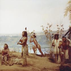 """Old Indian Life Group"": Mohawk Warrior Group"