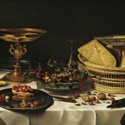 "Painting: ""Still Life with Fruit"" by Pieter Claesz (1644)"