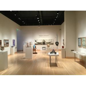 "View of the exhibit, ""Community and Continuity: Native American Art of New York"" at the Samuel Dorsky Museum of Art, SUNY New Paltz"