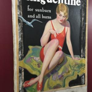 Original artwork from an early Norwich Pharmacal advertising poster is just one of the many items on exhibit at the Chenango County Historical Society & Museum.