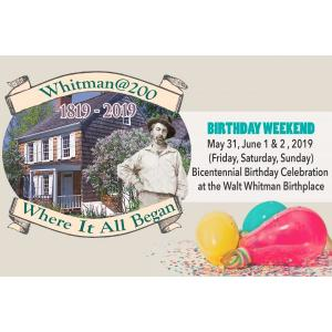 Birthday Weekend Banner for Walt Whitman's 200th Birthday Celebration