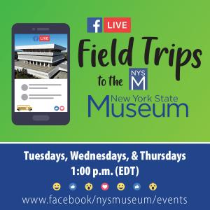 Facebook Live Field Trip to the NYSM Logo