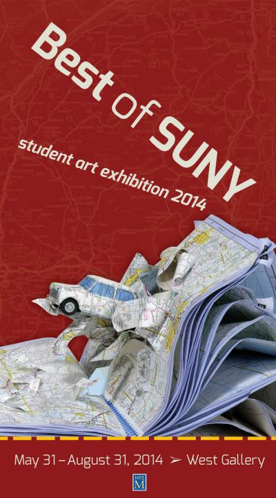 SUNY Student exhibition poster graphic