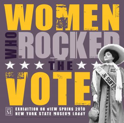 women voting poster