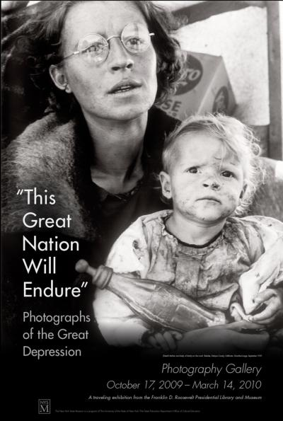 The great nation will endure photography exhibition poster