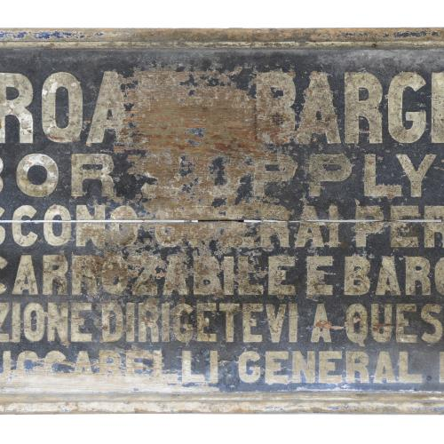 Barge Canal Labor Sign