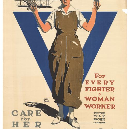 """For Every Fighter a Women Worker"" (ca. 1918)"