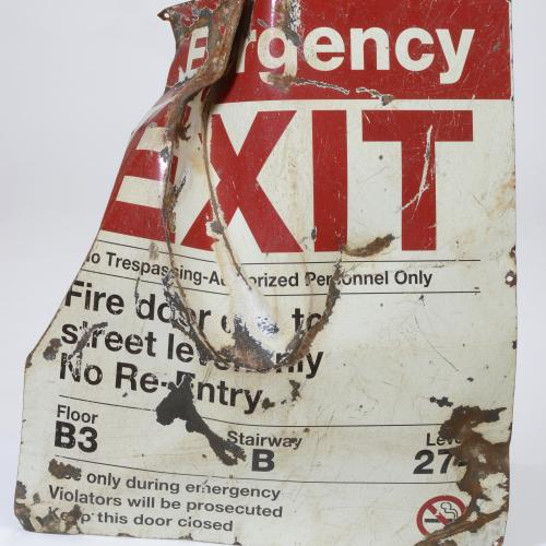 9/11 Stairwell Sign
