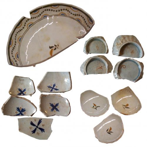 Examples of Pottery sherds