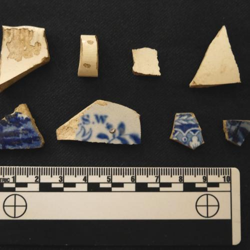Early 19th-century ceramic artifacts recovered from the surface at the Douw site