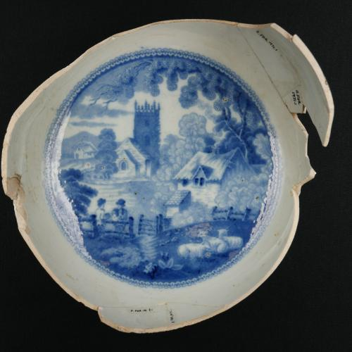 Fort Orange Collection Pearlware Blue Bowl
