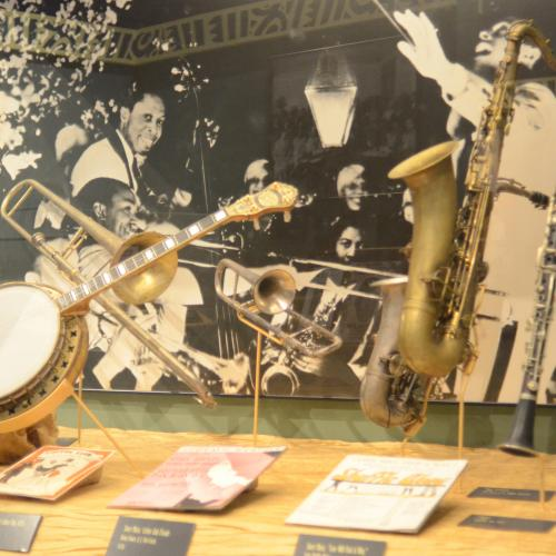 gallery view of musical instruments from Harlem