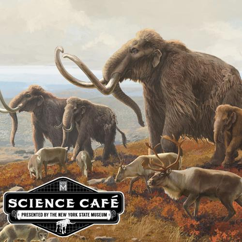 Science Cafe Logo and Ice Age image