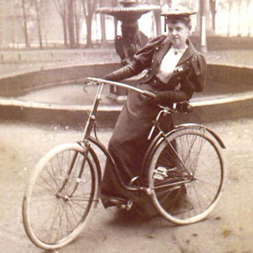 Woman with Bicycle - 1890s
