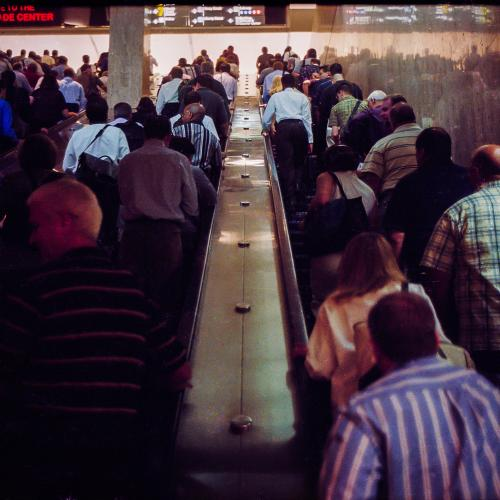 World Trade Center Commuters Photograph