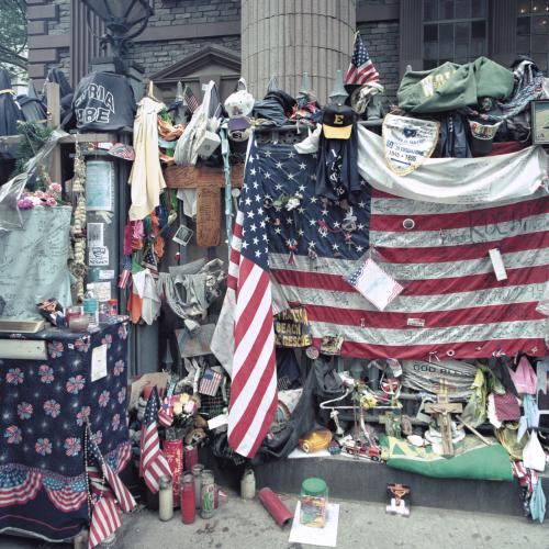 objects of response left at Ground Zero