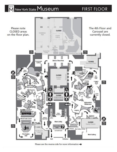 1st floor map of the museum
