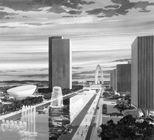 Empire State Plaza planning sketch