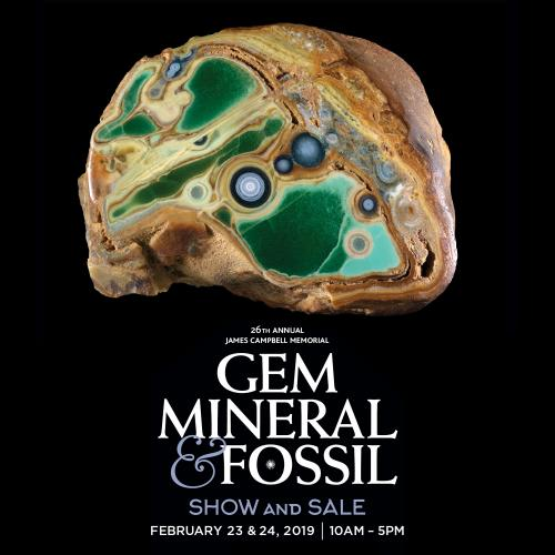 26th Annual James Campbell Gem and Mineral Logo