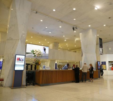 The Museum's Lobby Screen