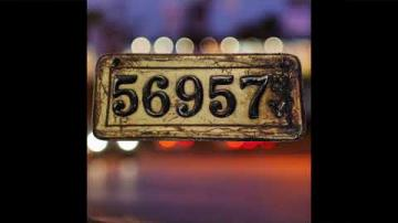 1907 Leather License Plate